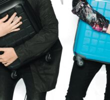 Dan and Phil Go Outside (suitcases) Sticker