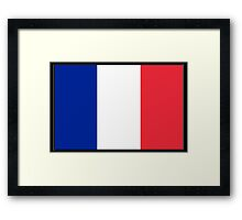 FRANCE, FRENCH, French Flag, Flag of France, Tricolour, Storming of the Bastille, Liberté, Égalité, Fraternité, Pure & simple, on black Framed Print
