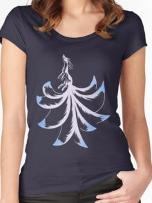 Ninetails Lines  Women's Fitted Scoop T-Shirt