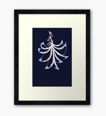 Ninetails Lines  Framed Print