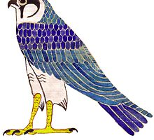 Horus in faience by Aakheperure