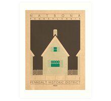 Pennsalt Historic District - 1850 (Green) Art Print