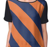 Charlottesville Virginia Orange & Navy Team Color Stripes Chiffon Top