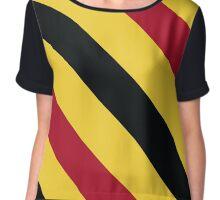 Lexington Virginia Red, Gold & Black Team Color Stripes Chiffon Top