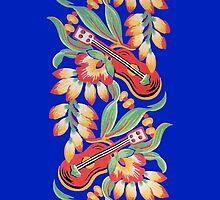 Ukulele Pattern (Blue) by sargus