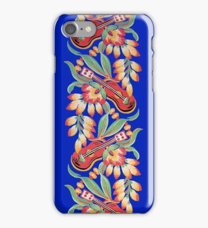 Ukulele Pattern (Blue) iPhone Case/Skin