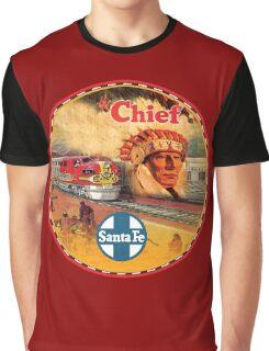 Sante Fe Railroad Big Chief Graphic T-Shirt