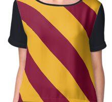 Washington DC Red & Gold Team Color Stripes Chiffon Top