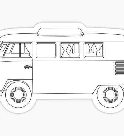 Wireframe VW Camper Van Sticker