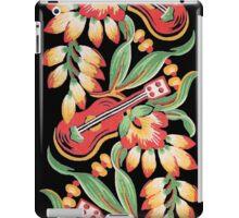 Ukulele Pattern (Black) iPad Case/Skin