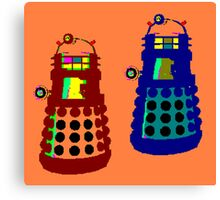 PIXELATE EXTERMINATE 1 Canvas Print