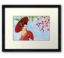 Geisha (10805  views) Framed Print