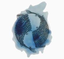 Pisces (blue) Kids Tee