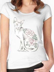 Cat sphinx Women's Fitted Scoop T-Shirt