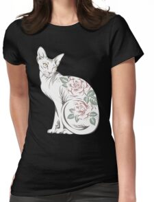 Cat sphinx Womens Fitted T-Shirt