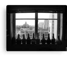 Flinders St Inside & Out Canvas Print