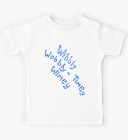 Wibbly Wobbly Timey Wimey in Blue & White Kids Tee