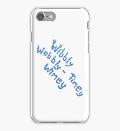 Wibbly Wobbly Timey Wimey in Blue & White iPhone Case/Skin