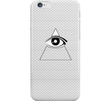 All Seeing Eye (Black/White) iPhone Case/Skin