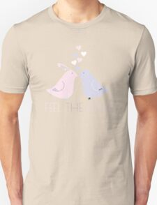Two Cartoon Love Birds Kissing Unisex T-Shirt