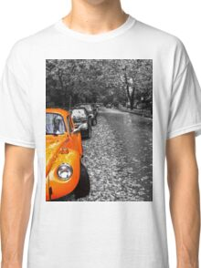 A Beautiful Autumn Day in the West End of Vancouver- Black and White Classic T-Shirt
