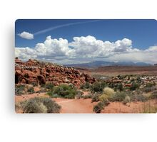 Salt Valley with La Sal Mountains Canvas Print