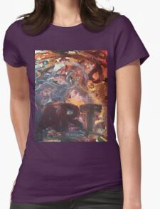 Art and a Heart  Womens Fitted T-Shirt