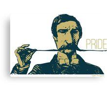 Vintage Hipster Long Mustache Pride  Canvas Print