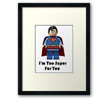 Super ! Framed Print