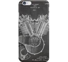 Harley Davidson Motorcycle Engine US Patent Art 1923 iPhone Case/Skin