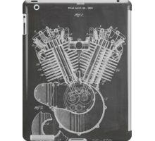 Harley Davidson Motorcycle Engine US Patent Art 1923 iPad Case/Skin
