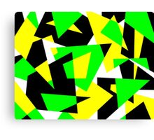 Random Shapes in Bold Colors Canvas Print