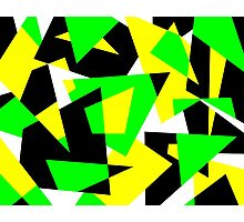 Random Shapes in Bold Colors Photographic Print