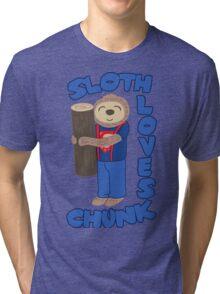 Sloth loves chunk Tri-blend T-Shirt