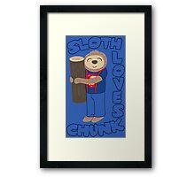 Sloth loves chunk Framed Print
