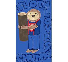 Sloth loves chunk Photographic Print