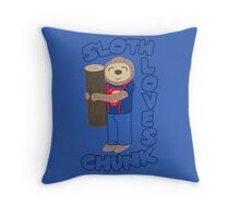 Sloth loves chunk Throw Pillow