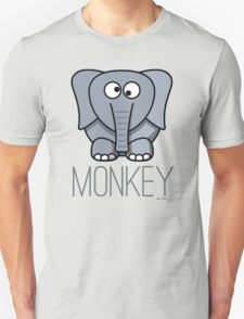 Funny Monkey Elephant Design Unisex T-Shirt