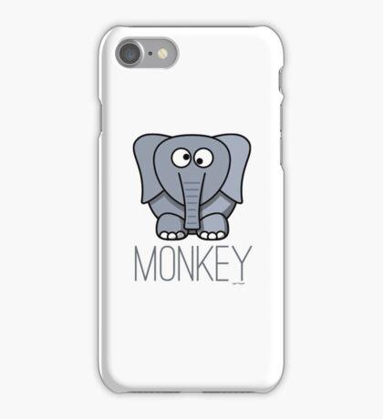 Funny Monkey Elephant Design iPhone Case/Skin