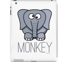 Funny Monkey Elephant Design iPad Case/Skin