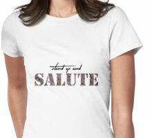 Stand Up and Salute Womens Fitted T-Shirt