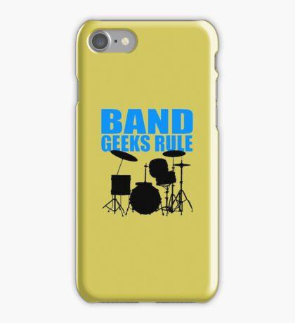 BAND GEEKS RULE-DRUM KIT iPhone Case/Skin