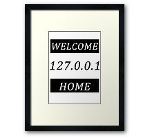 Typography network Framed Print