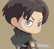 Levi: Attack On Titan by Jelly Gem
