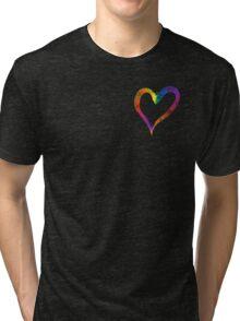Heart Web Effect Tri-blend T-Shirt