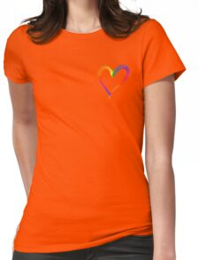 Heart Web Effect Womens Fitted T-Shirt