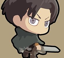 Levi: Attack on Titan (With Name) by Jelly Gem