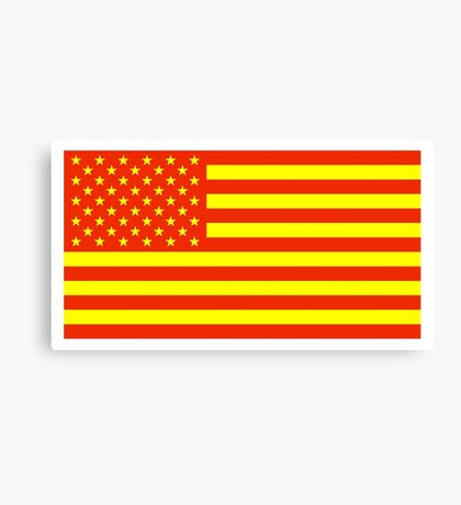 Economic Justice American Flag Canvas Print