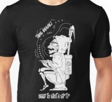 Grim Reaper need time break time to shot a shit cute and funny Unisex T-Shirt