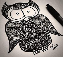 Owl Doodle - $15 by Trisha Vaz